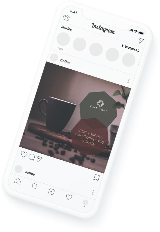 Coffeeshop templates for facebook and instagram
